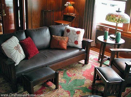 Arts and Crafts antiques, and new Craftsman Revival home furnishings
