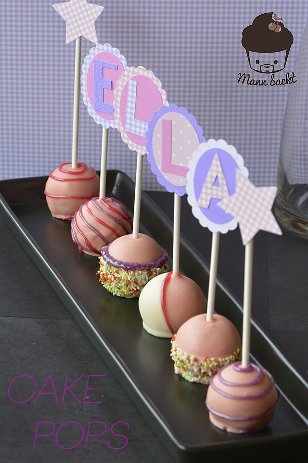 Funky Cake Pops für neugeborene Mädchen