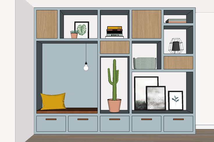 Interieur totaalconcept met maatwerk kast | Bekijk hier ons indelingsadvies, stijl/productvoorstel en ontwerpen voor maatwerk kast met leuke zitnis.