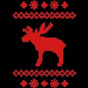moose caribou reindeer deer christmas norwegian knitting pattern rudolph rudolf winter snowflake sno Hooide   Spreadshirt   ID: 8168589