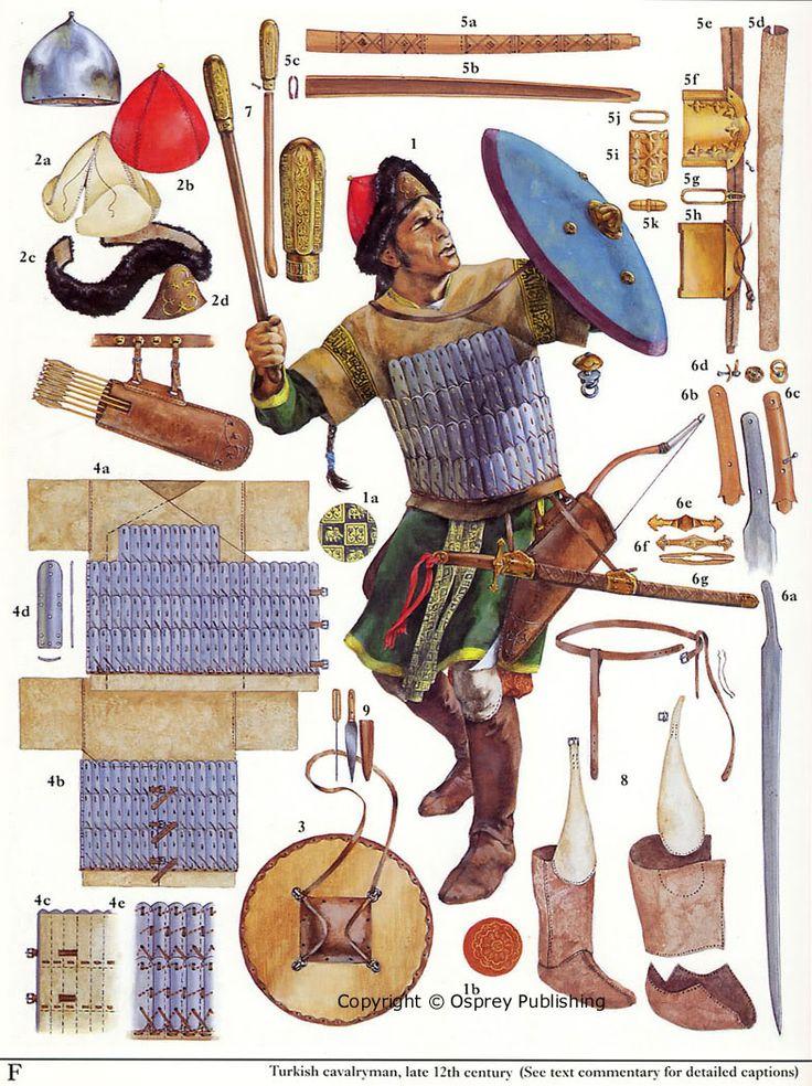 Turkish cavalryman, late twelfth century. Mystery of History Volume 2, Lesson 61 #MOHII61