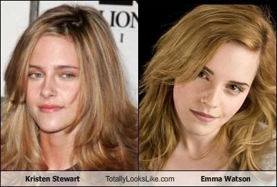 Kristen Stewart looks totally like.....Emma Watson ...