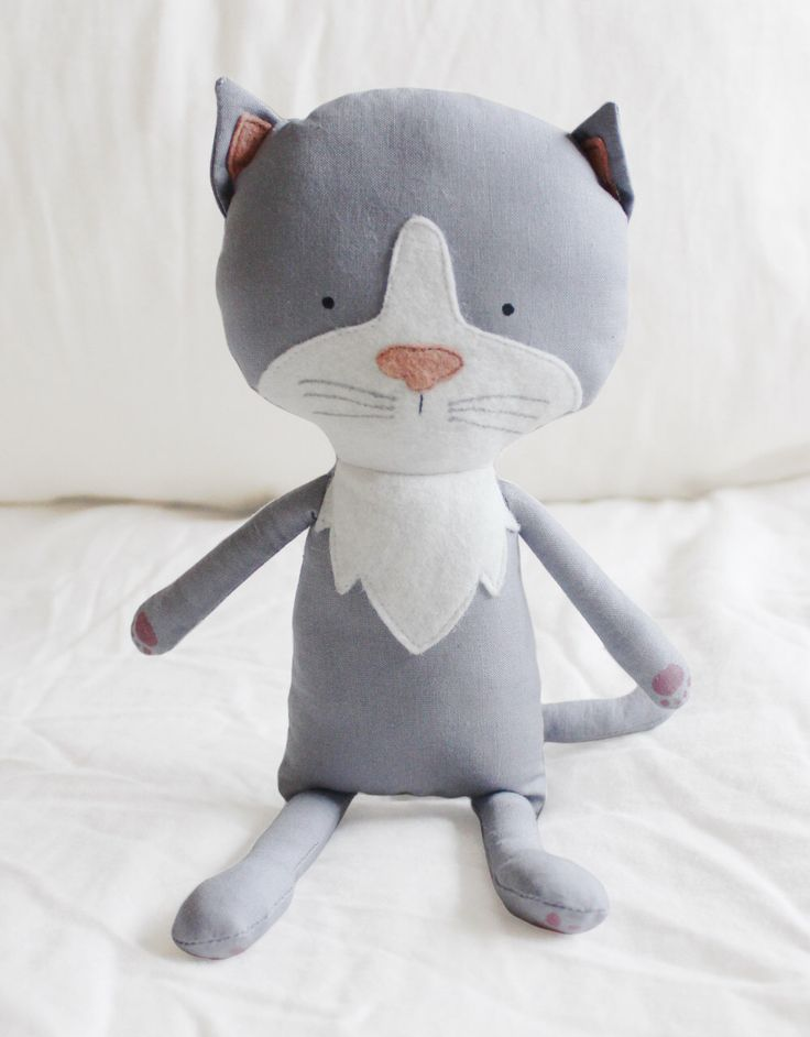 Cat Sewing Pattern Kitten Softie Plush Toy Cloth Doll ...