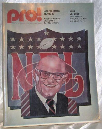 PRO-NFL-MAGAZINE-1975-Vol-4-6-George-Halas-amp-JETS-vs-BILLS-November-2-1975
