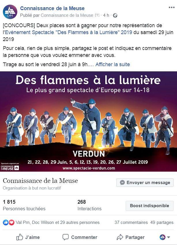 Concours Facebook Gagnez Vos Places Pour Une Representation Du Spectacle Des Flammes A La Lumiere Jeu Concours Fb Je Pa Jeu Concours Concours Spectacle
