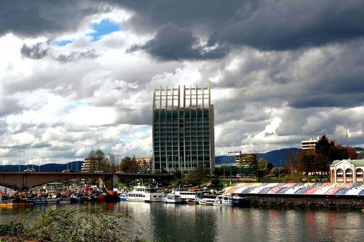 Feria fluvial. Valdivia