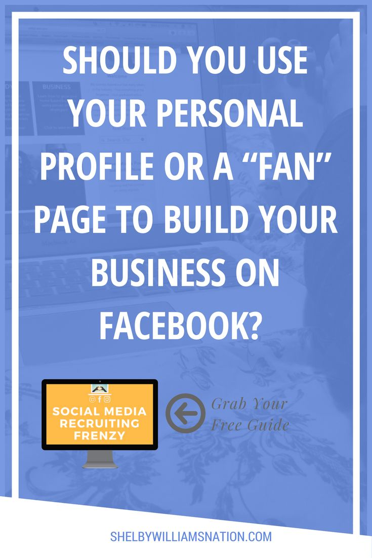 If you're building your business on Facebook, one of the first questions you need to answer is whether you'll use your personal Profile or create ...
