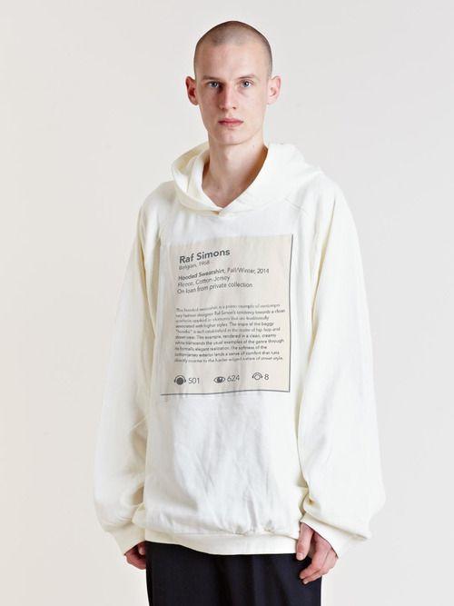 Raf Simons, Hooded Sweatshirt, Fall/Winter, 2014.