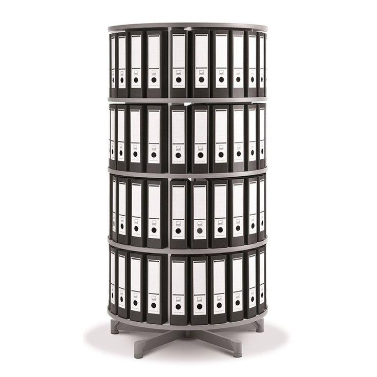 Spin N File Four Tier Rotary Binder Storage Carousel - TURN4