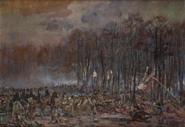 Wojciech Kossak, Atak 4 Pułku Piechoty na Olszynkę Grochowską (Szkic do Panoramy Grochowa), 1941