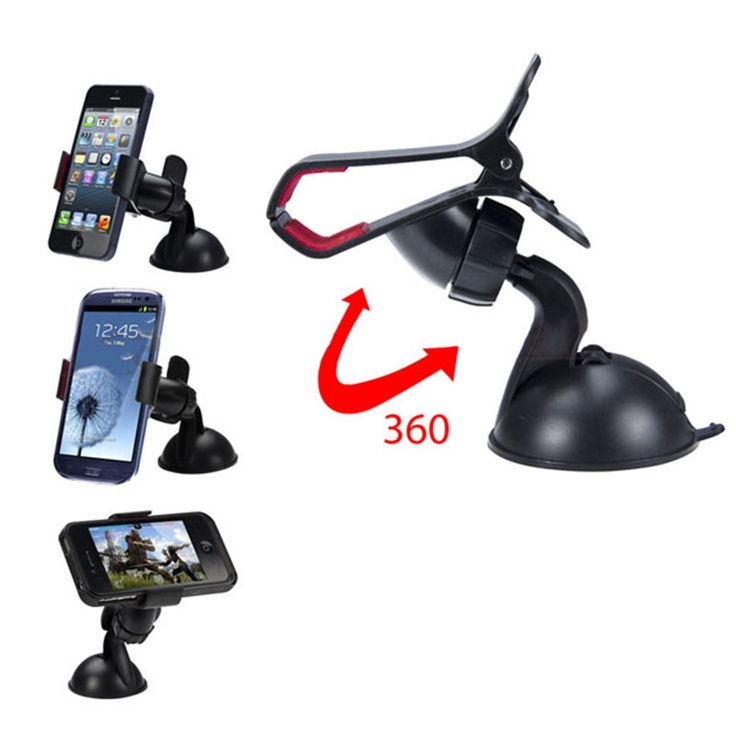 Woweinew 360 rotation Universal Car Windshield Mount Holder phone car holder For iPhone  free shipping & wholesale