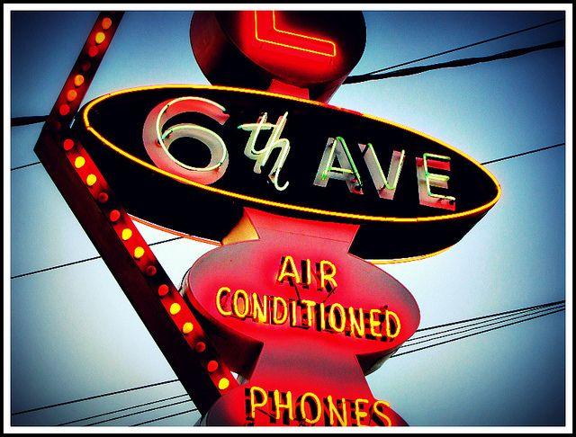 6th Avenue Motel - Detail by Vintage Roadside, via Flickr