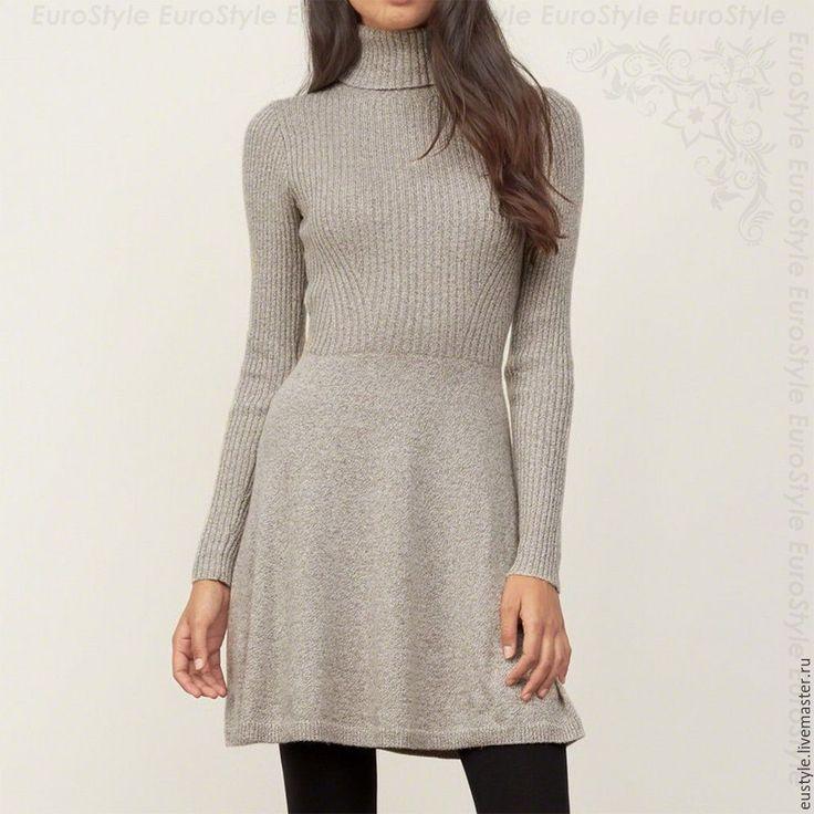 Платье вязаное с высоким горлом. Платье модное. Платье стильное. - *** Veronika // EuroStyle *** - Ярмарка Мастеров http://www.livemaster.ru/item/12824465-odezhda-plate-vyazanoe-s-vysokim-gorlom-plate