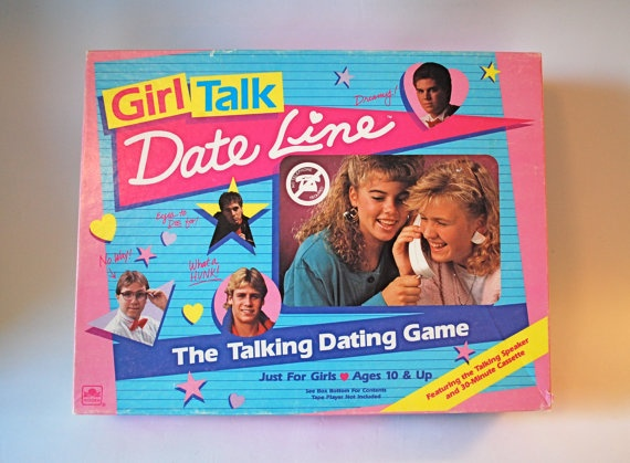 Girl Talk Date Line Board Game Totally 80's