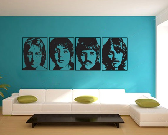 The beatles wall tattoo beatles pinterest popular for Beatles wall mural