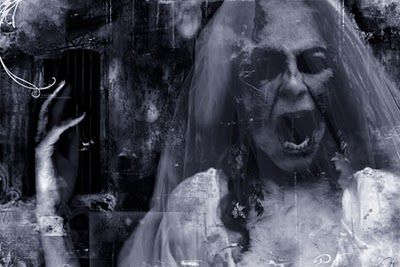 "La Llorona. Mexican ghost story. (la yo-RO-na) means ""the crying lady"""