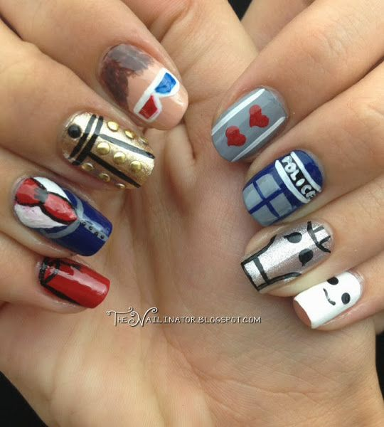 Doctor Who Nail Art getting tis done for the premiere