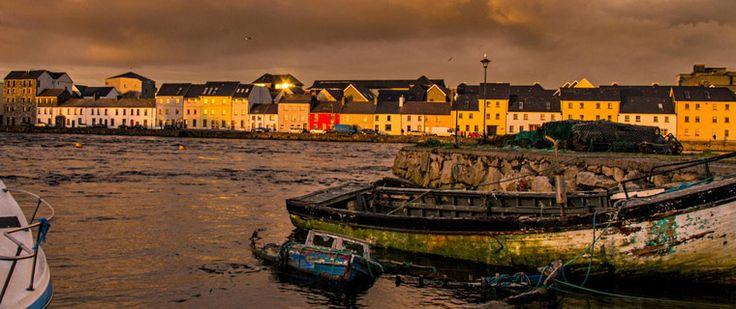 #Corrib Nehri'nden #Galway manzarası. #irlanda #Ireland #gezi #river #seyahat