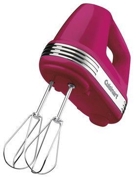 hot pink Cuisinart Power Advantage 5-Speed 220-Watt Hand Mixer contemporary blenders and food processors
