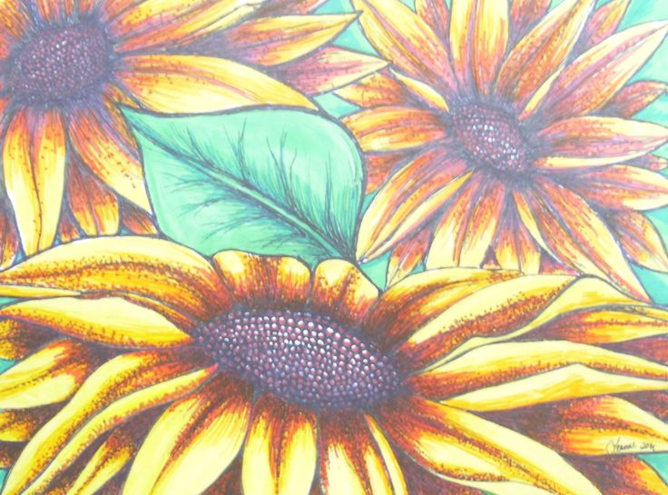 """Wall Decor Available """"Sunflowers"""" by LeannesArtStudio on Etsy"""