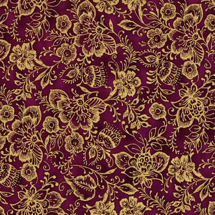Robert Kaufman Fabrics: EUJM-6498-201 JEWEL from Bohemian Rhapsody