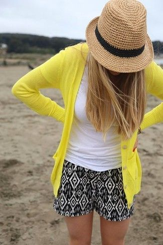 How to Wear a Yellow Cardigan (11 looks) | Women's Fashion