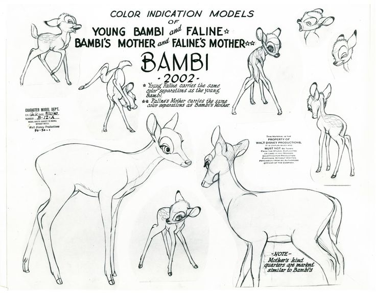 "This is a character model for the film ""Bambi."" I recently re-discovered this film after buying the Blu Ray and I must say it is one of my favorites. I don't know why for years I never regarded it as being one of the greats. Everything is just about perfect in the story, art, execution etc. Disney artists put up a zoo at the studio for studying the woodland creatures and traveled to Maine forests as well.The deer look like white tail deer! All in all, it is possibly Disney's best dramatic…"