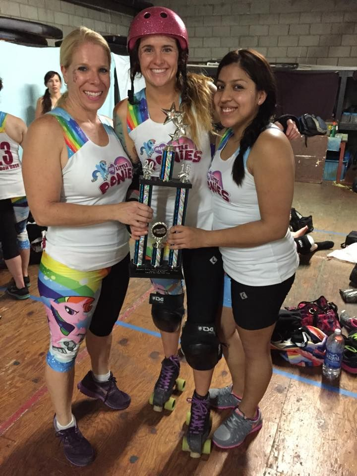 SDRD members on the(L2R: Hard Candy, Crowe, Jazzy Fizzle) My Little Ponies - Jantastic 2015 Champs!