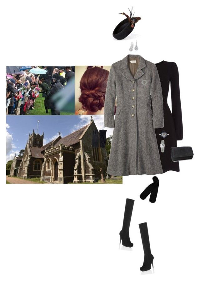 """Attending the Christmas Day service at St Mary Magdalene Church with her family"" by hrhprincessamelia ❤ liked on Polyvore featuring Toast, Monki, Tissot, NLY Accessories and Blue Nile"