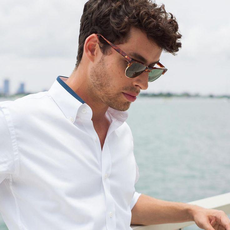 Modern men's shirt collar detail.