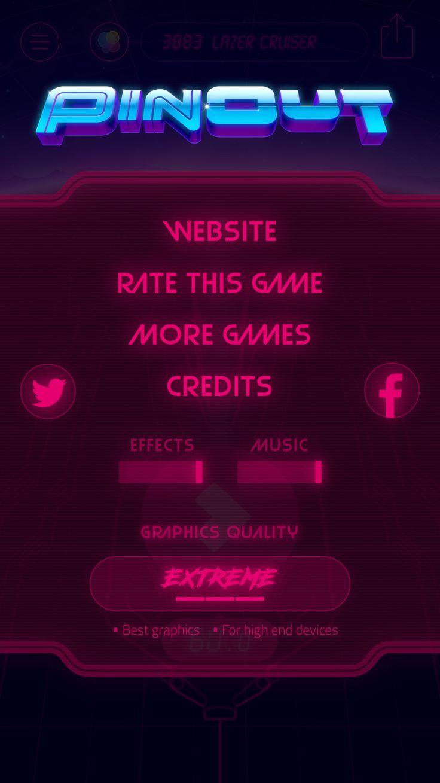 Pinout-settings screen