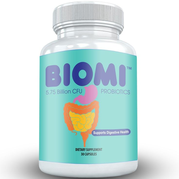BIOMI™ Probiotic Supplement for Gut, Skin, Digestive and Immune System Health and Support, 30 Capsules - High Strain Potency for Men and Women