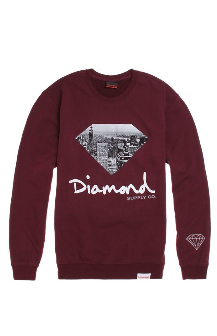 Diamond Supply Co Big City Fill Crew Fleece $64.95