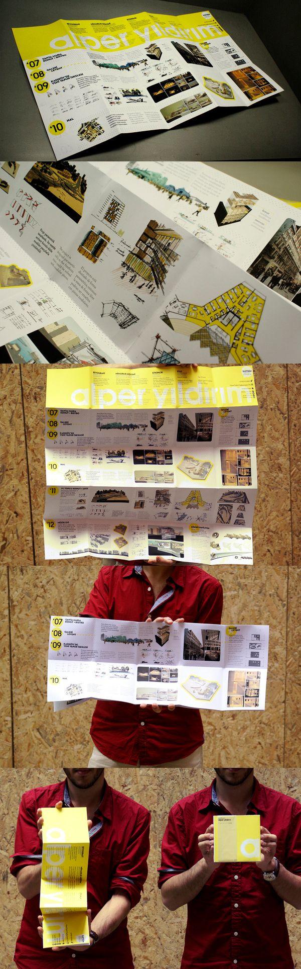 Printed Graphic Design Portfolio Example - Alper Yildirim i really love the folded aspect of this portfolio!