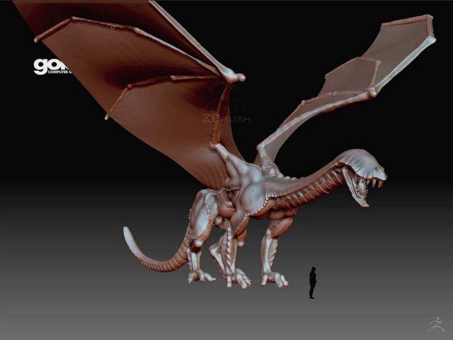 Dragon  - Concept Art Zbrush turntable