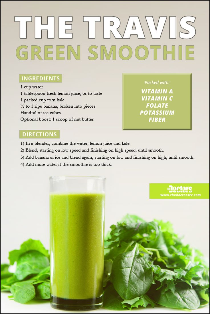 The Dr. Travis Green Smoothie  What's packed with vitamins A and C, folate, potassium, and fiber?