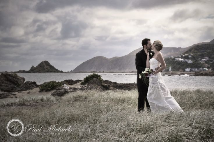 wedding couple on the beach at houghton bay