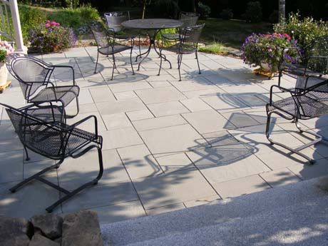 This Blue Select Pattern Of Bluestone Creates An Understated Yet Beautiful  Patio