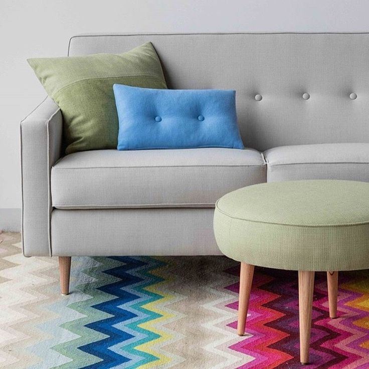 Chevron Multi. This dynamic zig zag rug makes an eye-catching statement, available in two alternating colours or a mesmerising Multi-Stripe. Pic via Southwood.