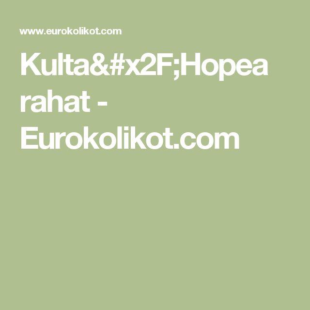 Kulta/Hopea rahat - Eurokolikot.com