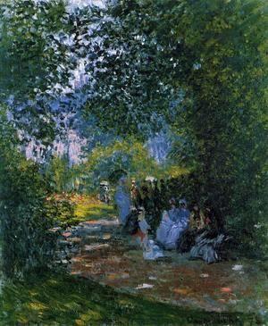 At The Parc Monceau  Claude Oscar Monet