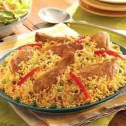 The Classic Caribbean and Spanish Meal--Arroz con Pollo--is a popular staple in the Caribbean kitchen. Our chicken and rice is extra special with the addition of Sazon GOYA(R) with Azafran, which adds color and flavor derived from our unique saffron spice blend. Make Arroz con Pollo tonight--everyone loves an easy rice and chicken dish.
