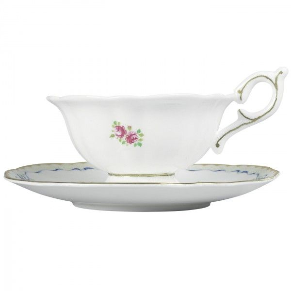 Harlequin Collection Ribbon Rose Cup and Saucer