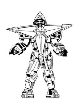 robot power rangers zeo a strong coloring page for kids - Power Rangers Coloring Book