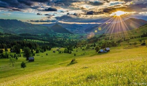 Rays of light on romanian country side!♥