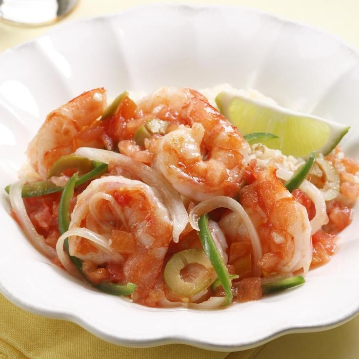 Veracruzana is a dish full of onions, jalapeños and tomatoes from the Mexican state of Veracruz. Here we pair the zesty sauce with shrimp, but it can be served with any type of fish or chicken.