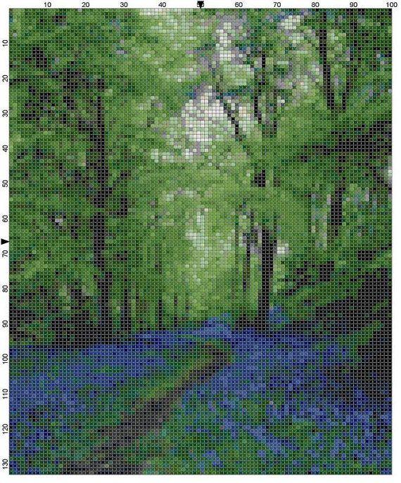 Cross Stitch Pattern Bluebell Pathway by theelegantstitchery, $10.00