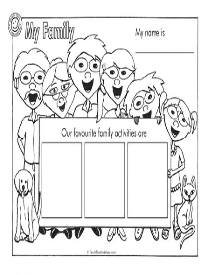 Worksheet For Grade 1 On My Family Best Images About Printables