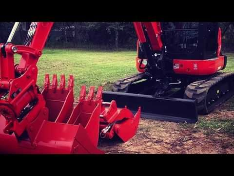 Mauries Excavations, Kubota - Attachments - YouTube