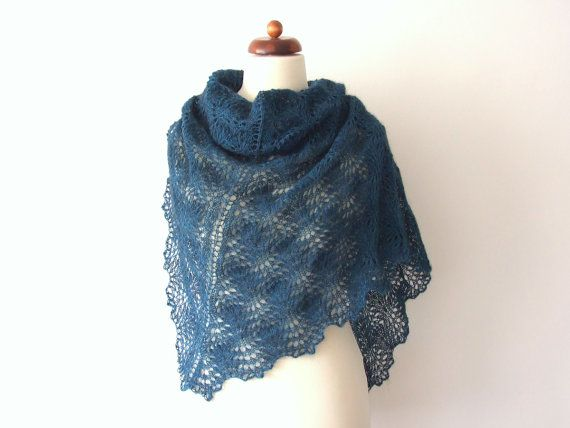 25% off and today with #free shipping http://etsy.me/2CzqGzA via @Etsy #sale #handmade #winter #shawl #teal #laceshawl #winerfashion